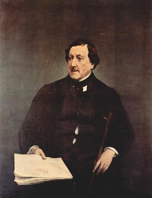 Francesco Hayez, Ritratto (postumo) di Gioachino Rossini, 1870, Pinacoteca di Brera, Milano